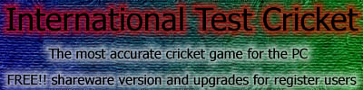 International Test Cricket Logo Entry