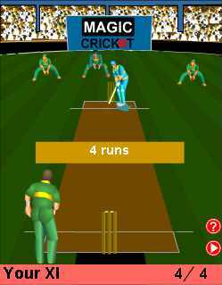 Virtual cricket game